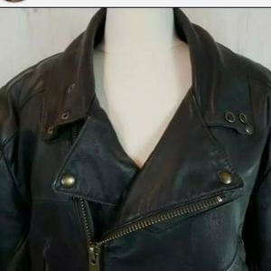 Bristol Mens Leather Motorcycle Jacket Medium